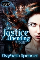 Photo of the Justice Unending cover by Elizabeth Spencer.