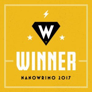 Banner that reads 'Winner: NaNoWrIMo 2017.'